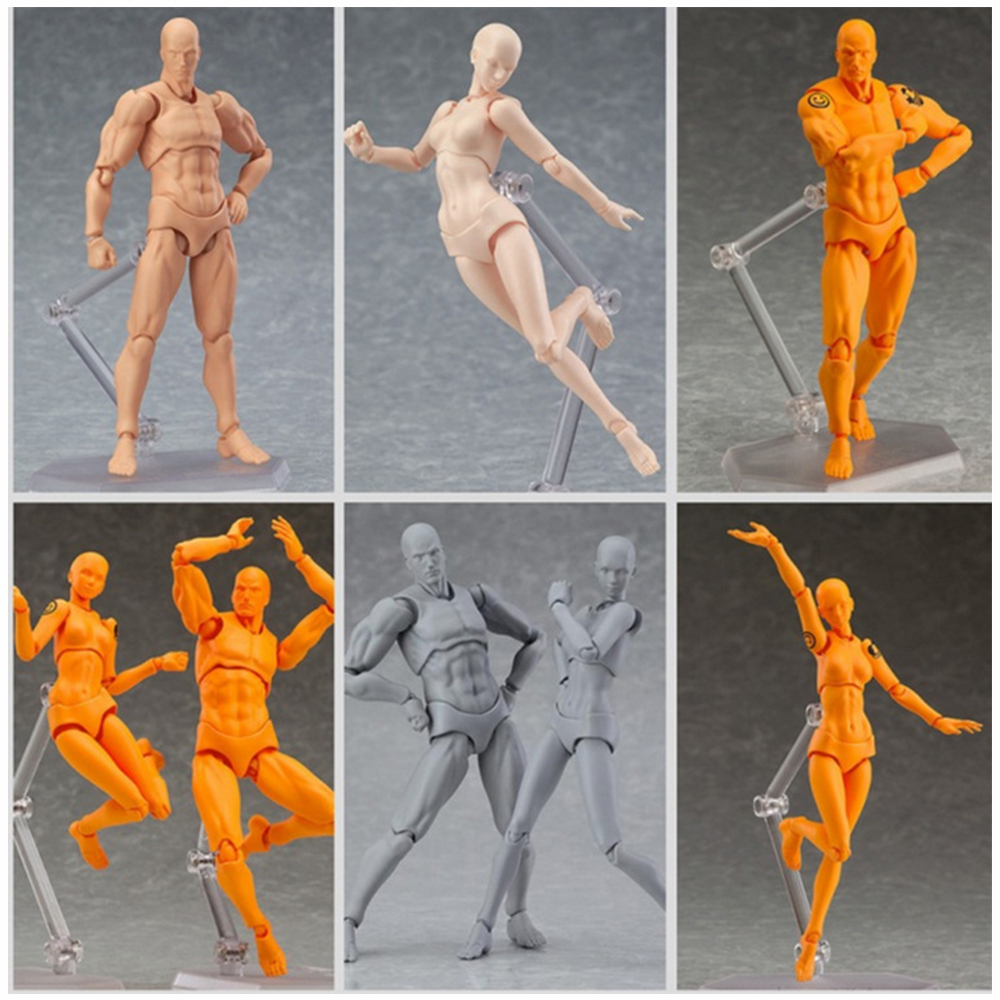 New Anime Archetype He She Ferrite Figma Movable BODY KUN BODY CHAN PVC Action Figure Collectible Model Toys Doll for SHFiguarts цена