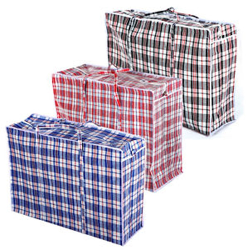 RED REUSABLE LAUNDRY STORAGE Strong BAGS ECO ZIPPED STRONG JUMBO LARGE MEDIUM For Home