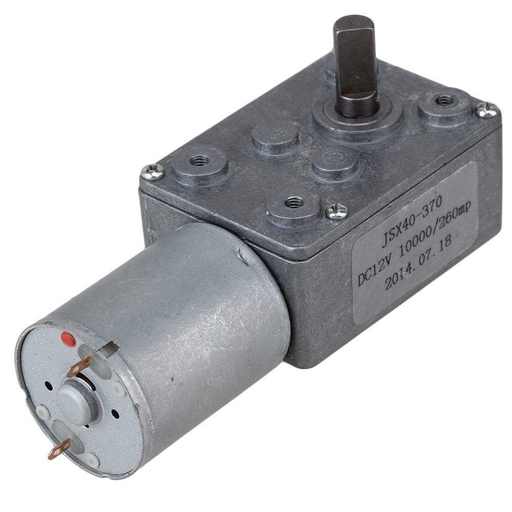 Metal Gear DC Geared Motor Reduction Turbo Worm Gear Motor 12V 260rpm