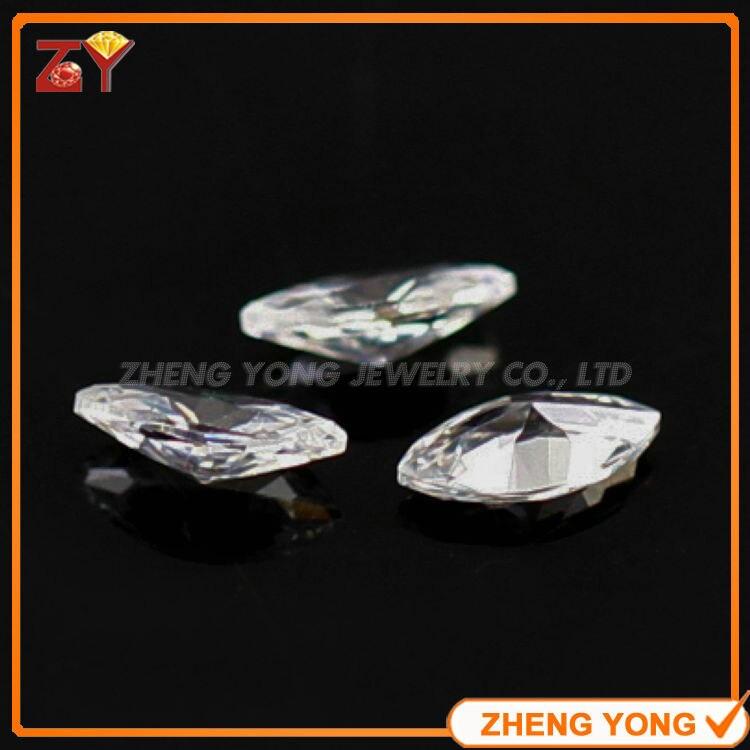 500pcs per Lot 5 10mm Marquise Shape Synthetic White Cubic Zirconia Stone Loose Machine Cut CZ