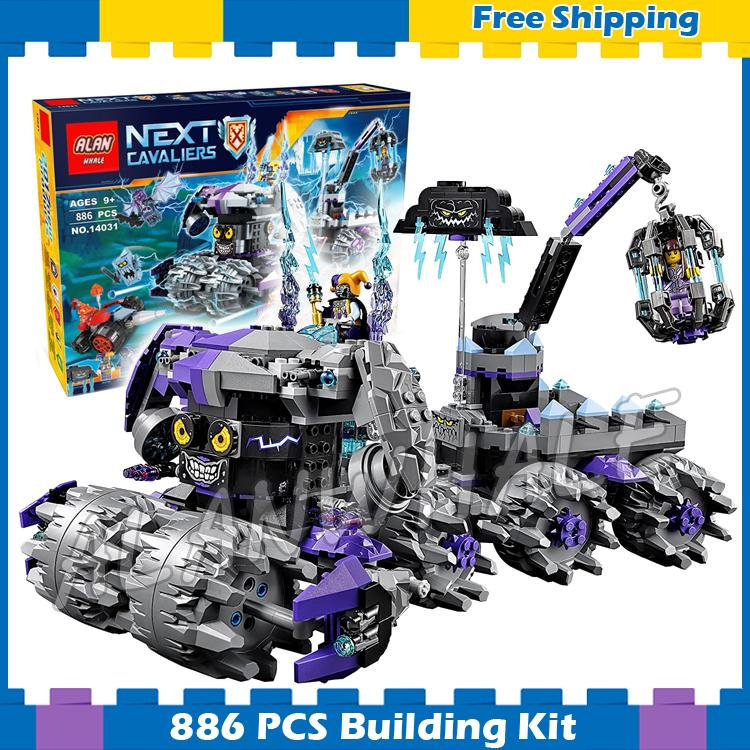 886pcs New Knights Jestro's Headquarter 3D DIY 10597 Model Building Blocks Boys Assemble Gifts sets Nexus Compatible with Lego