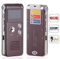 8GB USB mini digital audio recorder business portable telephone dictaphone with MP3 player black and wine red colors