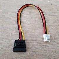 100 шт./лот 4Pin FDD дисковод гибких женский 15Pin SATA Женский адаптер конвертер Мощность приводит кабель 18AWG провод для персональный компьютер усов