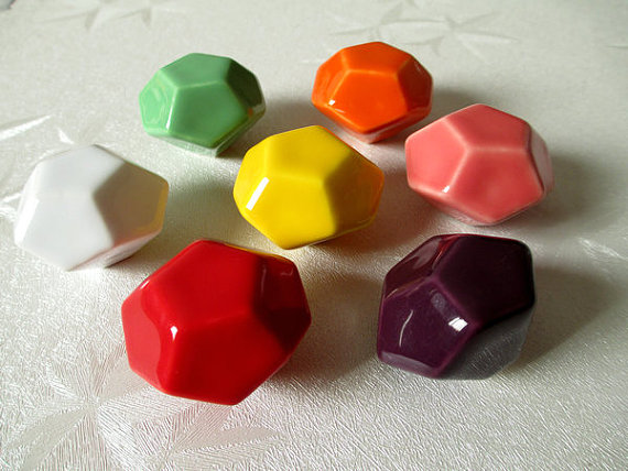 drawer knob pulls handles kitchen cabinet door knob furniture hardware coral pink white purple red yellow