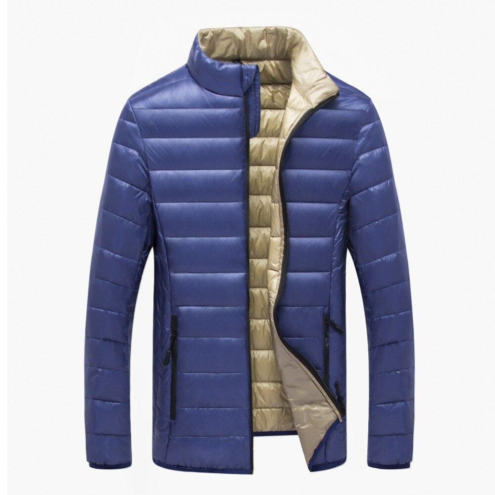 Vêtements et accessoires Bourse américaine Hommes UltraLéger Veste Chaude Stand Collar Down vestes Parka Zip Outwear