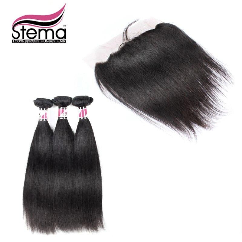 Free Shipping font b Stema b font font b Hair b font Unprocessed 100 Indian Virgin
