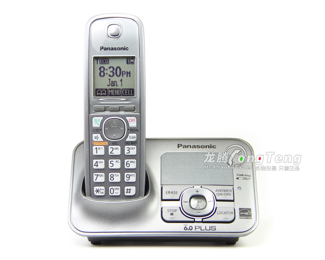 New Arrival KX TG4131M DECT 6.0 Plus Cordless Telephone with Digital ...