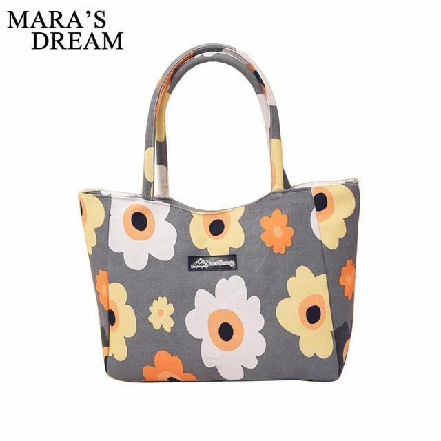 Mara S Dream Las Single Shoulder Beach Bags Waterproof Canvas Zipper Foldable Fl Printed Stirp Ping Bag