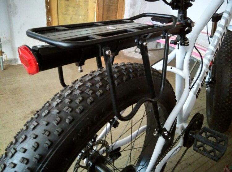 Graisse vélo en aluminium 4.0 pneu Plage neige montagne vélo arrière plateau d'empilage poupée rack dans Porte-bicyclette de Sports et loisirs