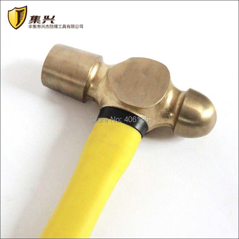 2lb/0,91 кг шаровый молоток из медного сплава с ручкой из стекловолокна, безопасные ручные инструменты