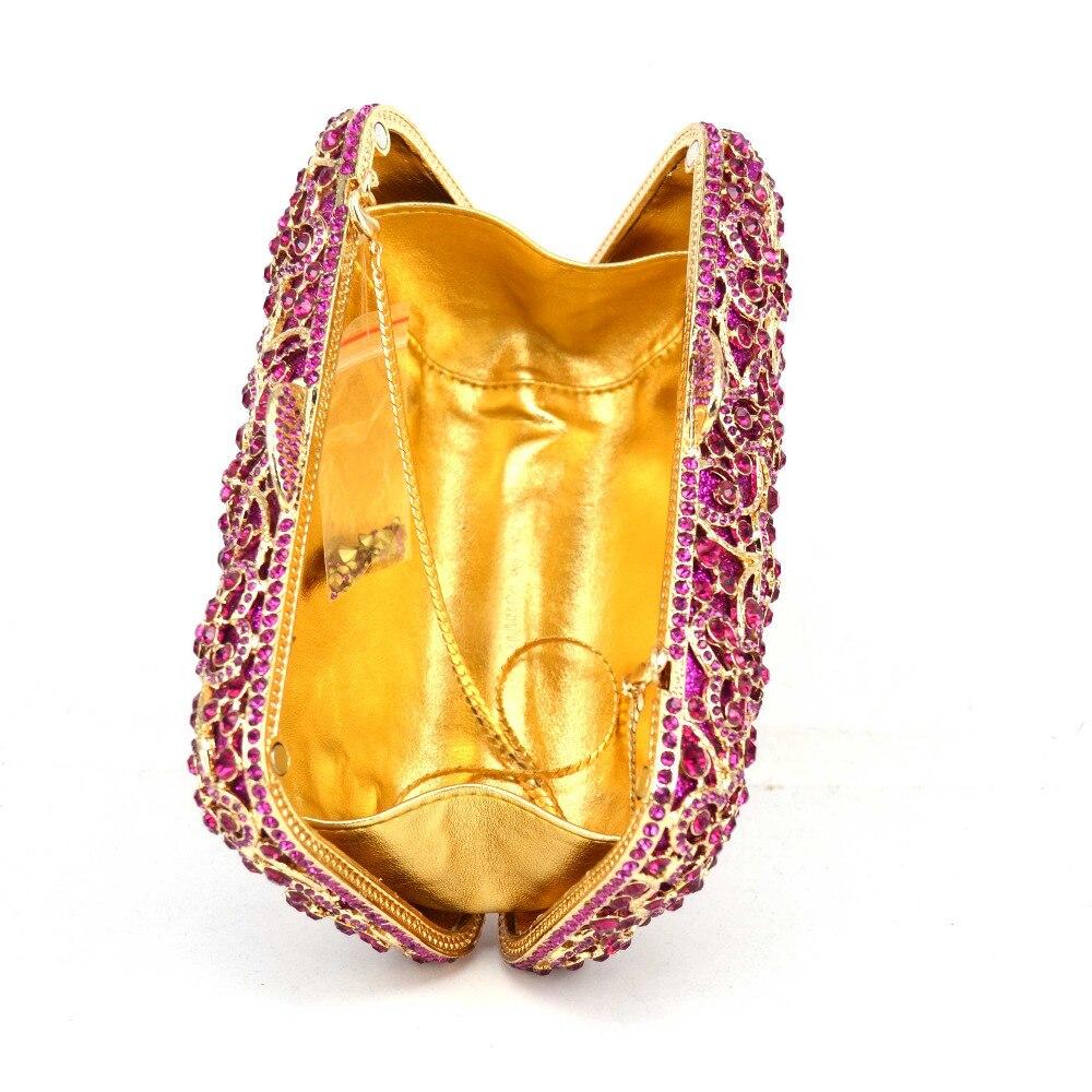 De Mariée Soirée Femelle Main Fuschia Femmes Fuchsia D'embrayage Cristal Luxe Noce Mode À Sac Bal Sc575 CwfFFR