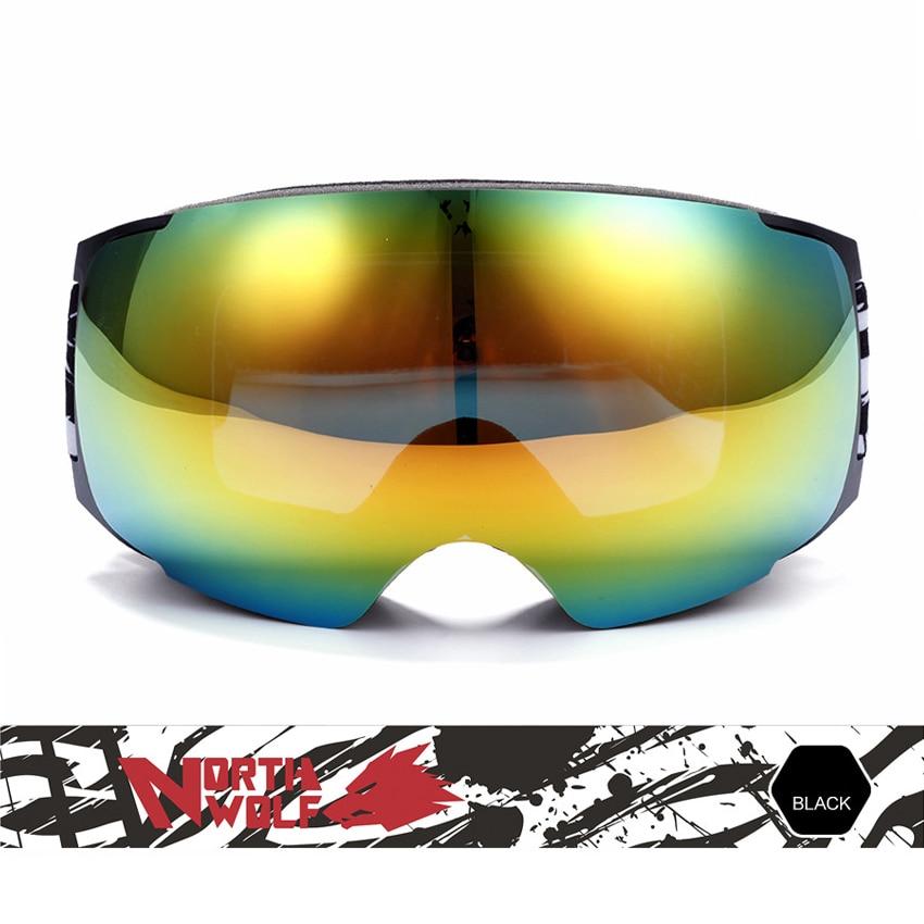Hommes femmes hiver grandes lunettes de Ski Double sports de plein air Anti-buée lunettes snowboard cyclisme Ski randonnée UV400 lunettes VK018