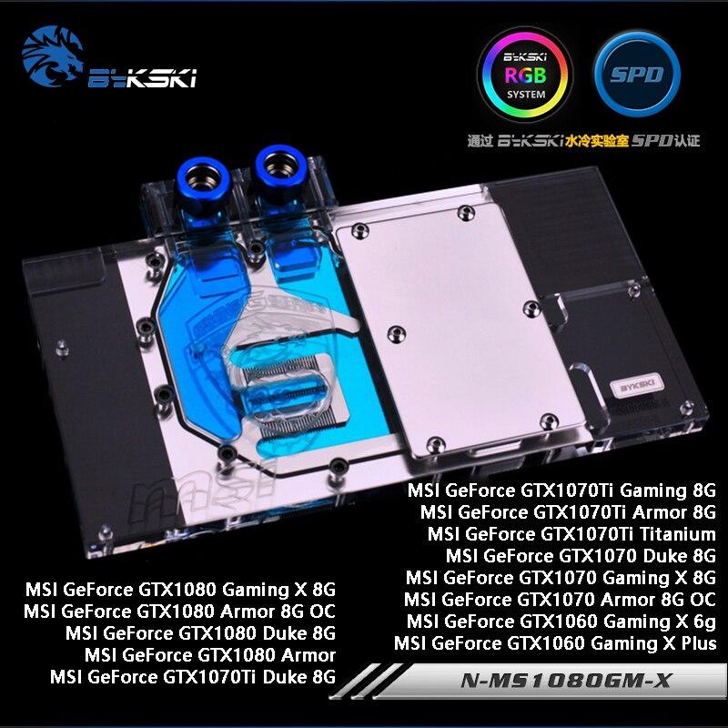 Bykski N-MS1080GM-X Cobertura Completa Bloco De Resfriamento De Água para MSI Placa Gráfica GTX1080/1070 Jogos X/Duke/Armadura, GTX1060 Gaming X