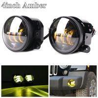 Pair 4 Inch Amber Yellow Led Foglights Auto Led Headlight Driving Offroad Lamp For 07 17