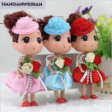 HANDANWEIRAN 2019 NEW 1PCS 12cm cute mini silicone girl doll toy cake pendant soft toys for christmas gift