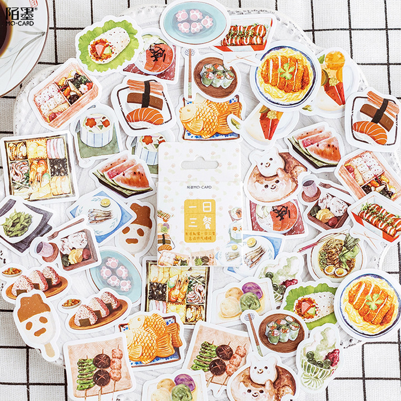 45 Pcs/box Delicious Food Mini Paper Sticker Decoration DIY Diary Scrapbooking Seal Sticker Kawaii Stationery