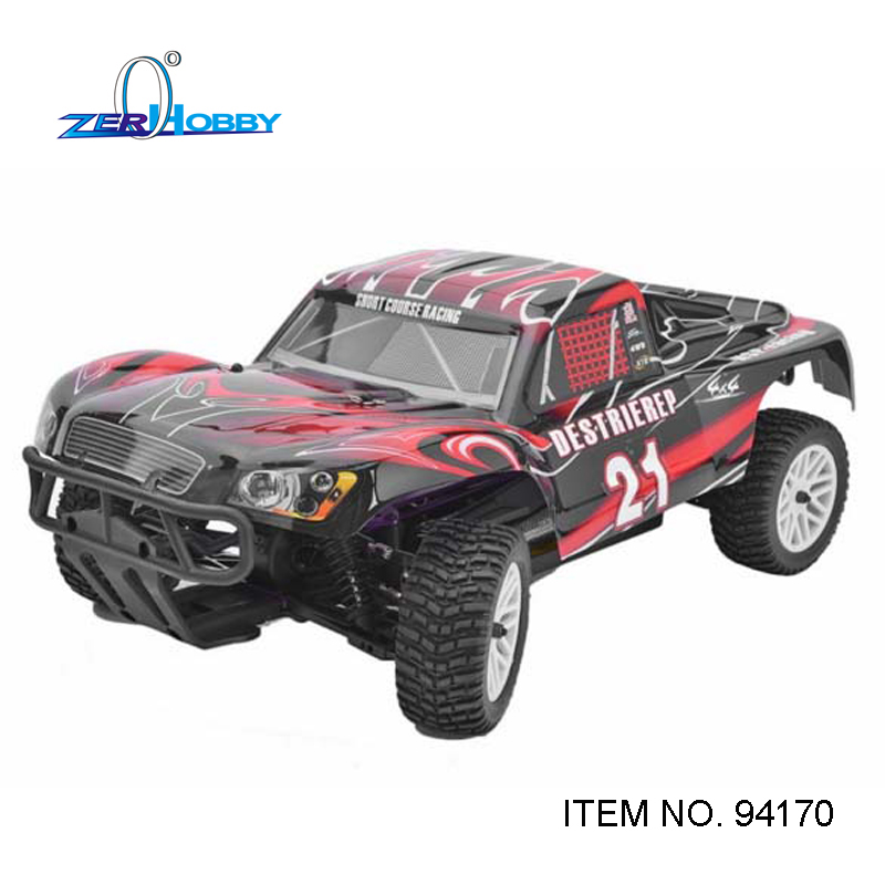 Voiture Rc HSP 1/10 EP R/C 4WD hors route rallye court Course camion RTR similaire REDCAT HIMOTO Course (article no 94170/PRO)
