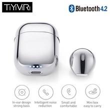 лучшая цена Mini Bluetooth Earphone Wireless Headset Sports Music Earbuds Bluetooth V4.2 Noise Canceling with Mic for Iphone Xiaomi Samsung