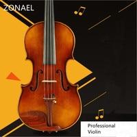 Professional Violin Handmade Antique Grading Violino 4 4 Musical Instruments More Than 18 Years Of Natural