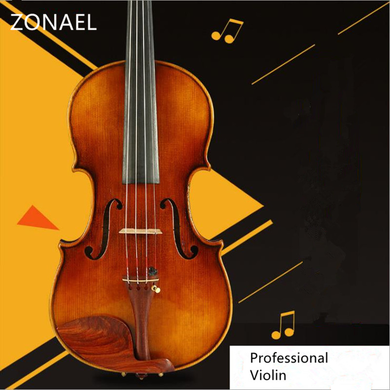 Professional  violin handmade Antique Grading violino 4/4 musical instruments More than 18 years of natural dry wood bow 630 violin bow 4 4 high grade brazil wood ebony frog colored shell snake skin violino bow fiddle violin parts accessories bow