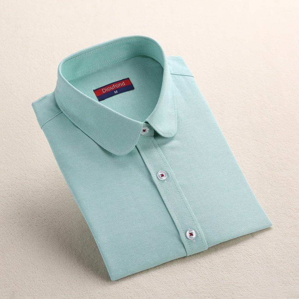 Dioufond Formale Bluse Frauen Weißes Hemd Baumwolle Büro Tops - Damenbekleidung - Foto 4