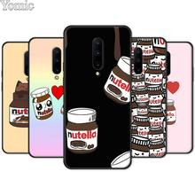 Black Soft Case for Oneplus 7 7 Pro 6 6T 5T Silicone TPU Case for Oneplus 7 7Pro Phone Cover Shell Kawaii nutella