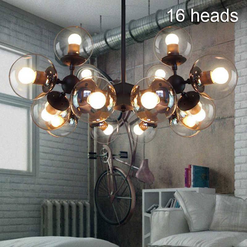 Винтажный круглый шар промышленный Лофт железный подвесной светильник сотовый Mordern droplight с стеклянный круглый шар классический светодиодный подвесной светильник