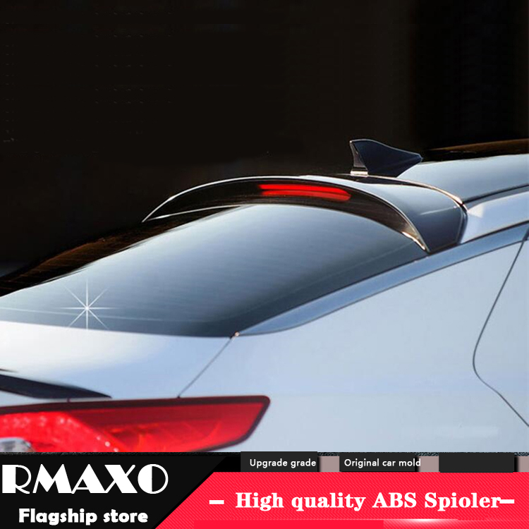 For KIA K5 OPTIMA Roof Spoiler 2011-2015 WITH LIGHT OPTIMA High Quality ABS Material Car Rear Wing Primer Color Rear Spoiler image