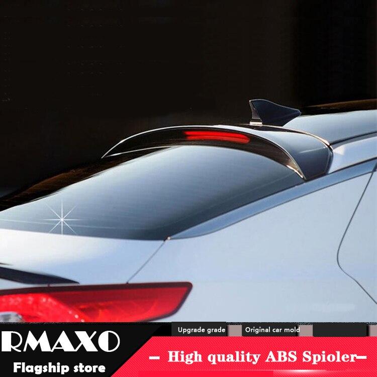 Para KIA OPTIMA K5 OPTIMA Spoiler 2011-2015 COM LUZ de Alta Qualidade do Material ABS Asa Traseira Do Carro Cartilha cor Spoiler Traseiro