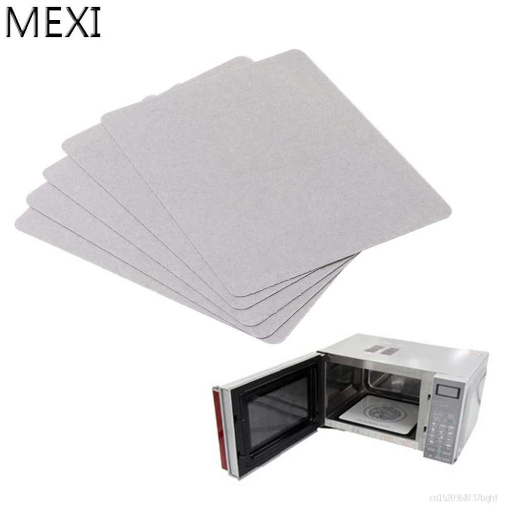 MEXI 5Pcs Mica Plate Sheets Microwave Oven Replace Part 120x150mm Universal For Midea