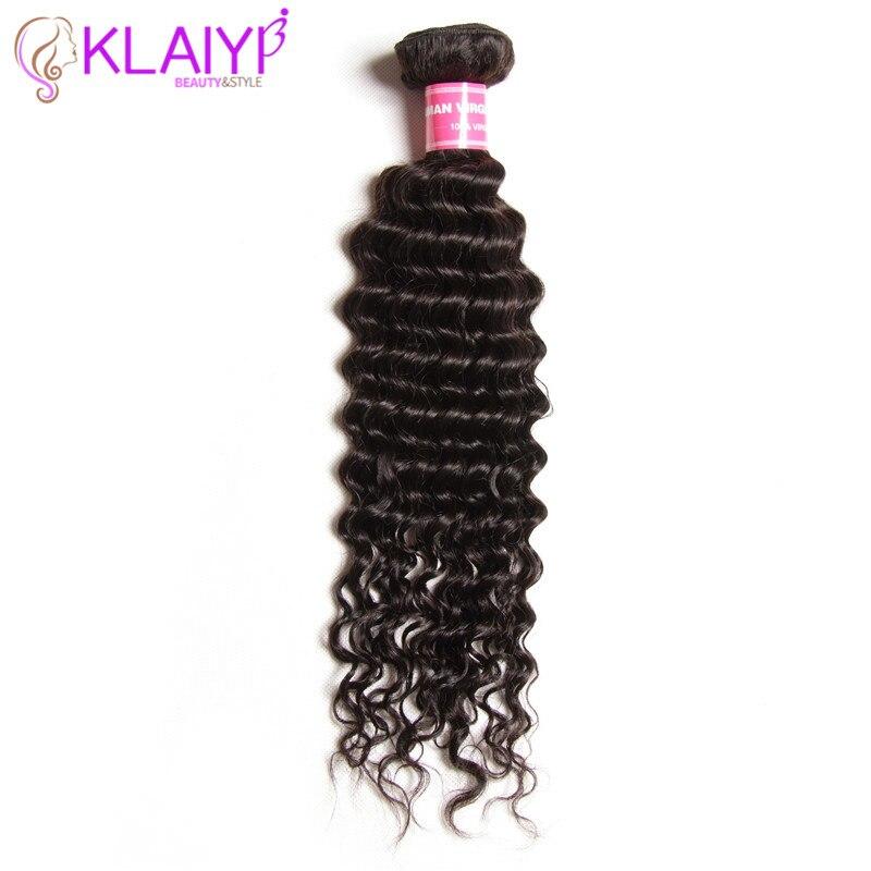 KLAIYI Hair Indian Hair Deep Wave Bundles Remy Hair Natural Color 100gram piece Can Be Dyed