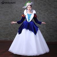 6778c38da368 2018 Blue Snow White Princess Dance Dress Medieval Southern Belle Marie  Antoinette Dresses Reenactment Clothing