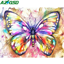 AZQSD Diamond Embroidery Full Display Picture Of Rhinestones Square Painting Butterfly Animal Cross Stitch Kit