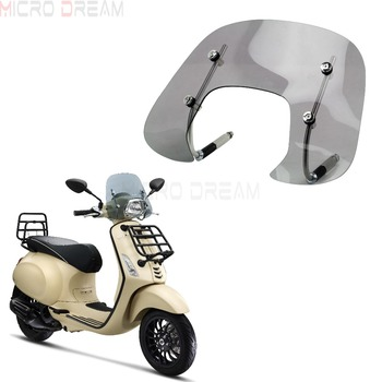 Smoke Scooters Tinted Fly Screen Windscreen Wind Deflector Kit For Vespa Sprint 150cc