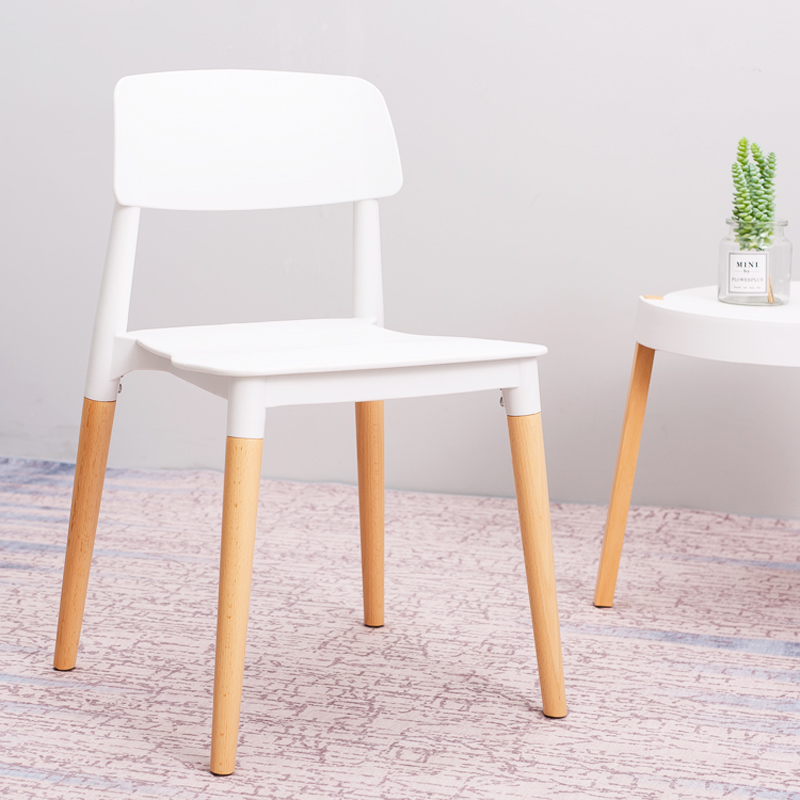 Nordic Leisure Plastic Chair Back-to-back Talent Chair Restaurant Suitable Dining Chair Modern Minimalist Study Bedroom Office