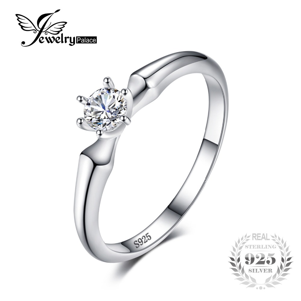 JewelryPalace Classic Wedding Solitaire Ring For Women Pure 925 Sterling Silver Simple Wedding Jewelry Fashion Gift jewelrypalace classic wedding solitaire ring for women pure 925 sterling silver simple wedding jewelry fashion gift