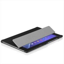 Super slim case de cuero para sony xperia tablet z2 + pc soporte Magnético de Smart Cover + Protector de Pantalla + Regalo Lápiz Táctil
