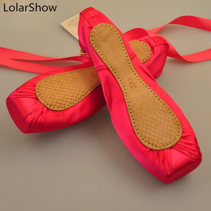 Baskets pour enfants chaussures de danse Ballet semelle en cuir dames professionnelles chaussures de Pointe en Satin