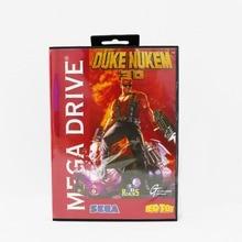 Duke Nukem 3D 16 bit MD card with Retail box for Sega MegaDrive Video Game console system