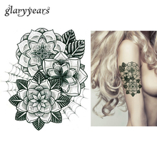 1pc Temporary Tattoo Body Art Sticker KM-028 Spider Web Flower Picture Design Fake Decal Waterproof Tattoo Sticker For Women Men