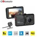 Gotomato 170 Degree Lens Dual Camera DVR Full HD 1080P Dual Lens Dash Cam Video Recorder 2 Camera Night Vision Car DVR Camcorder