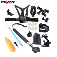 SOOCOO Sport Camera Accessories Set For SOOCOO S70 60B 60 C10 Gopro Hero 4 SJCAM SJ4000