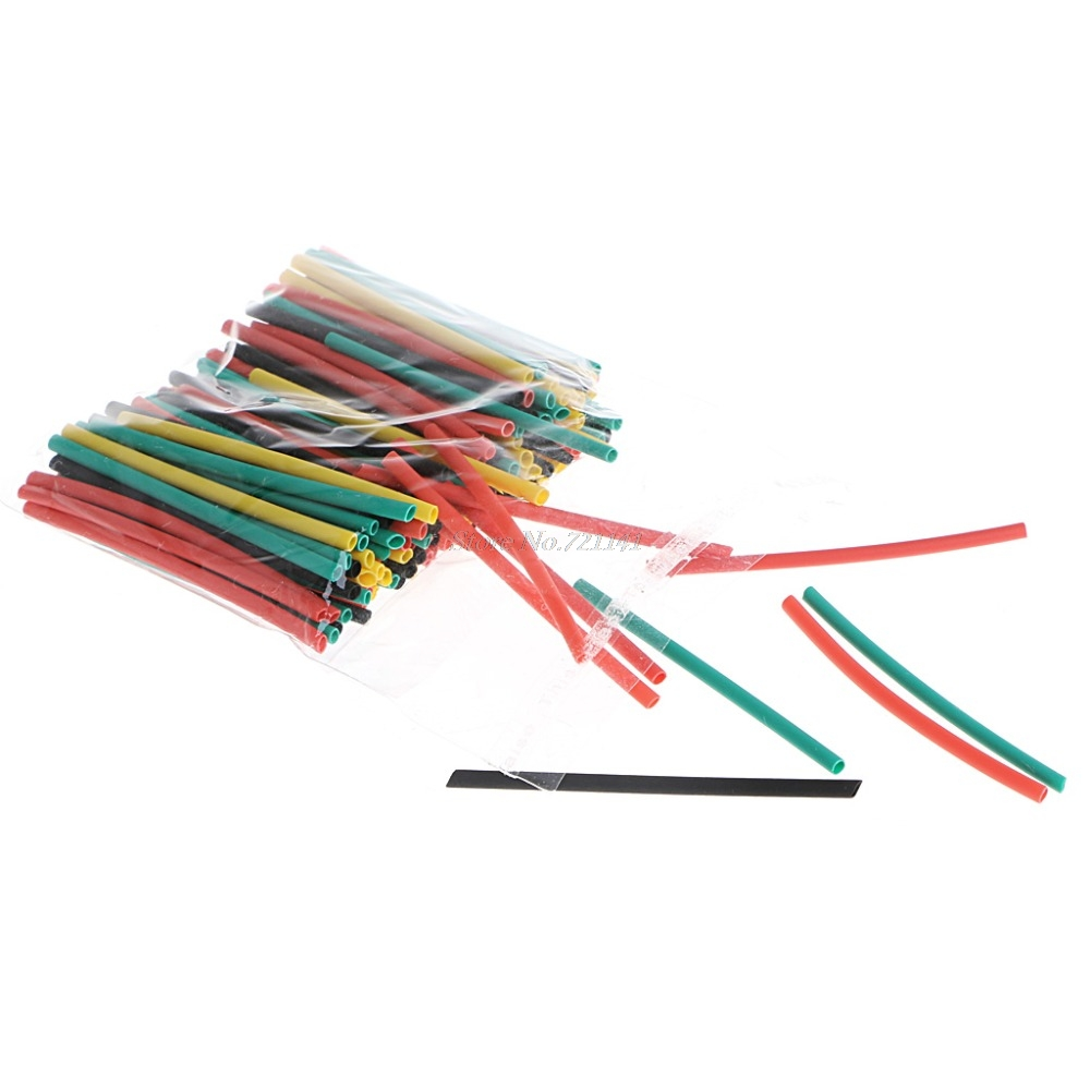 328 Pcs 2:1 Polyolefin Heat Shrink Tubing Tube Cable Sleeve Wrap High Voltage 8 Size Insulation Sleeving