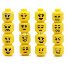 16pcs/set Cute Yellow Girl Head Face Expression Woman Female Figure Marvel Superhero Building Blocks Collection Bricks Toys(China (Mainland))