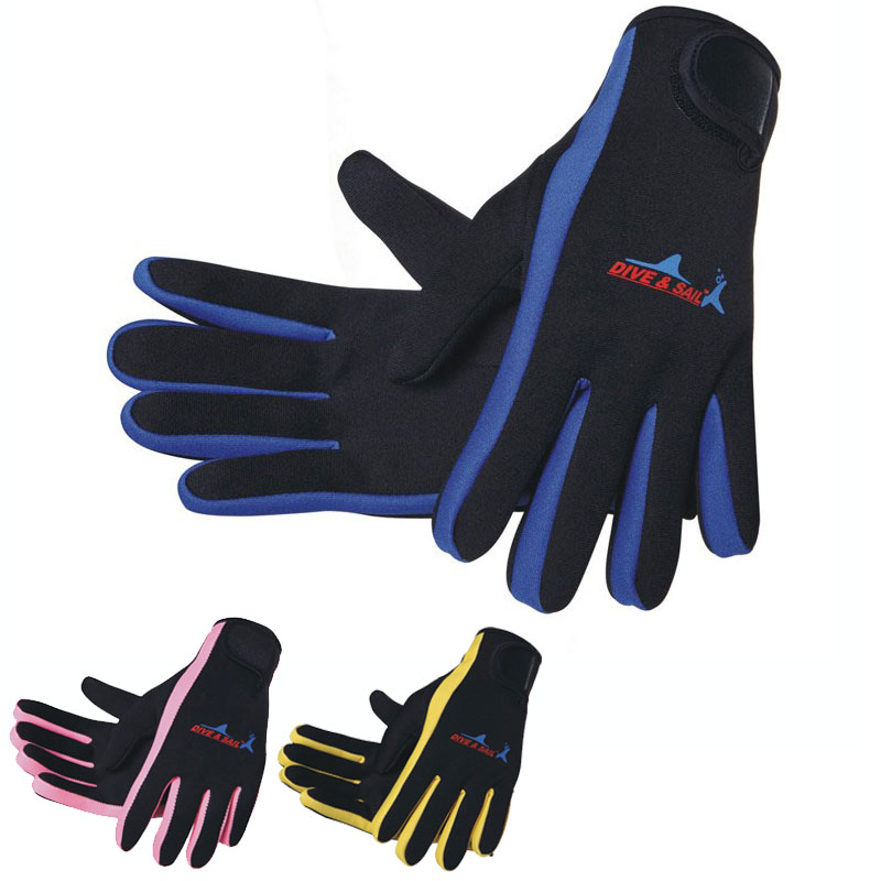 10 Pairs Snorkeling Gloves 1.5mm Neoprene Sport Gloves 3 colors blue pink yellow+black Scuba Diving Snorkeling Ski Boating Sail