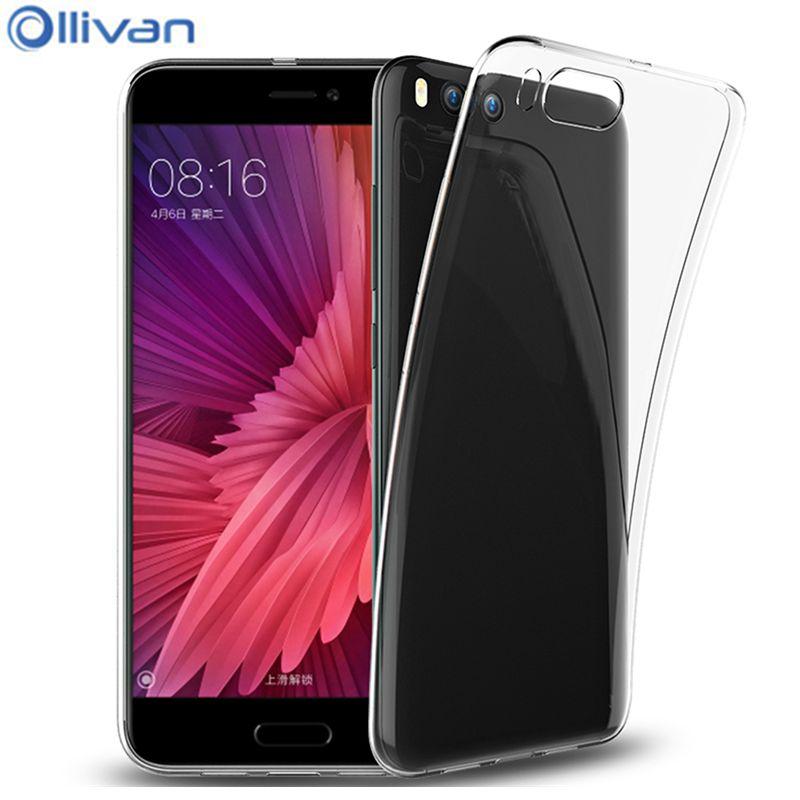 Цена за 10 шт./лот Оптовая Ollivan телефон случае для xiaomi ми-6 чехол 5.15 Прозрачный ТПУ задняя крышка чехол для xiaomi mi 6 силиконовый чехол M6