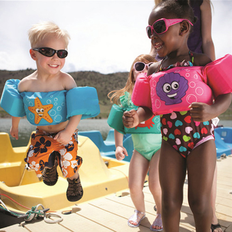 Baby Kids Arm Ring Life Vest Floats Foam Safety Life Jacket Sleeves Armlets Swim Circle Tube Ring Swimming Rings Puddle Jumper
