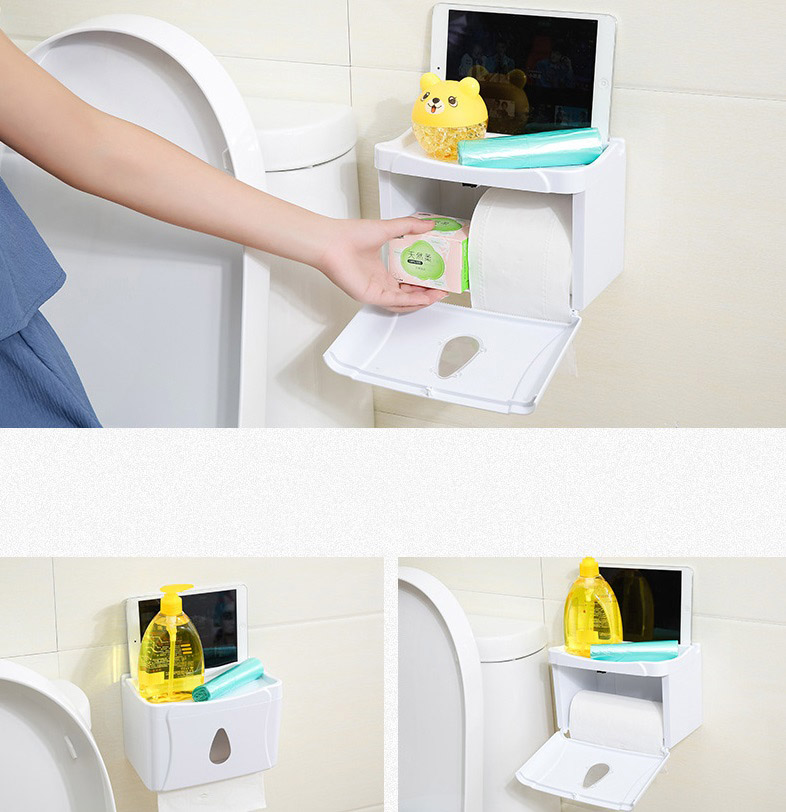 New Bathroom Rack Organizer Toilet Paper Holder Home Storage Box Accessories Tissue In Bo Bins From Garden