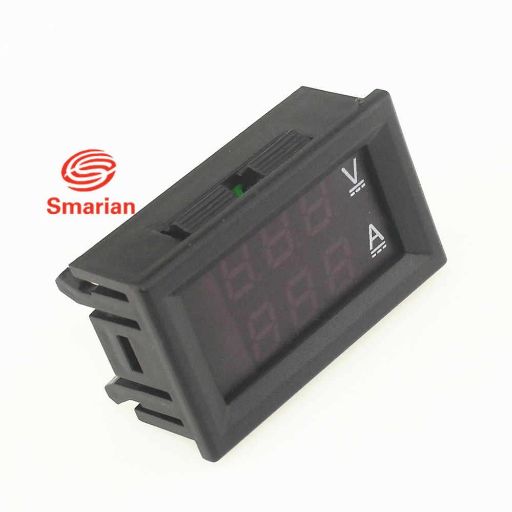 Fai da te giocattolo Professionale DC 100V 10A Voltmetro Amperometro Blu + LED Rosso Amp Dual Digital Volt Tester del Calibro di Tensione curre display
