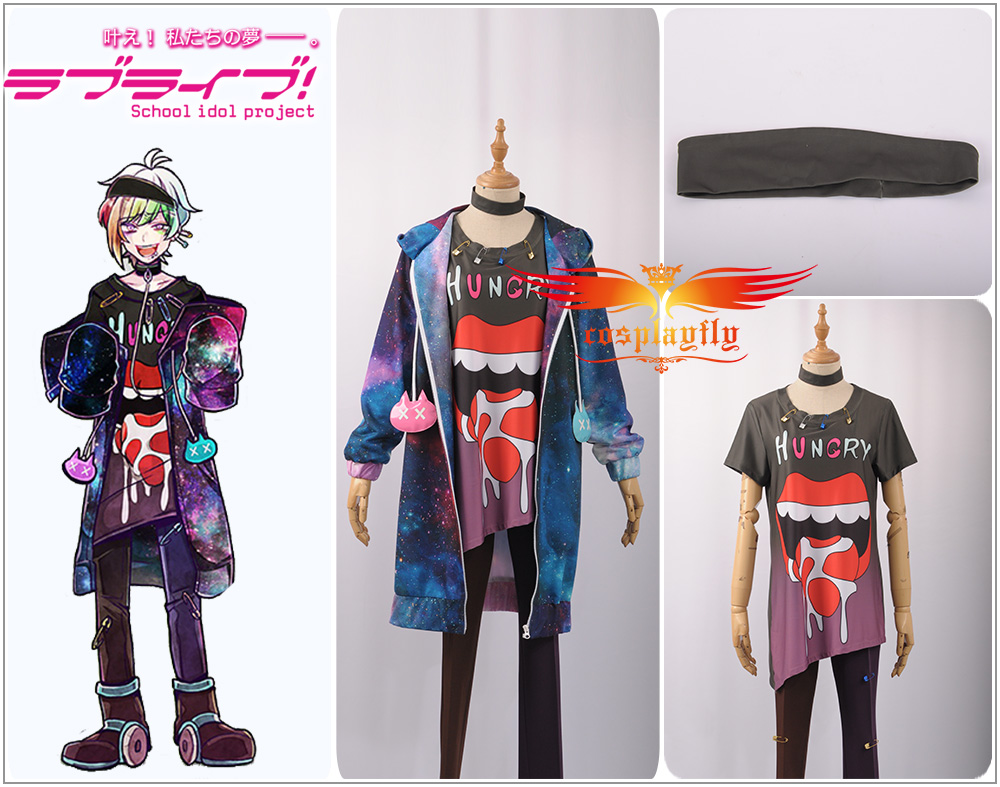 Game Bad Wolf Ookami Iida Rintarou Halloween Christmas Printed Cool Fashion Uniform Outfit Cosplay Costume Top
